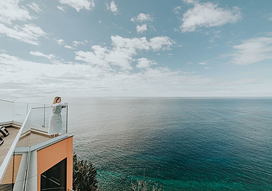 Stunning ocean views at Alpino Atlantico Ayurveda Hotel in Madeira