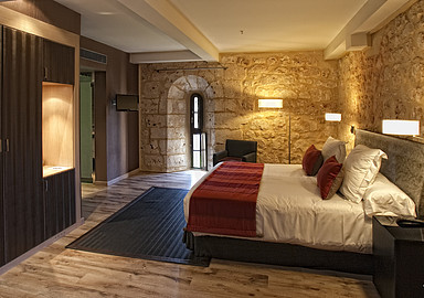 Double room at Hotel Burgo De Osma Thermal water Spa Hotel in spain