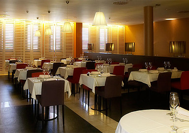 Restaurant of historical wellness Hotel Villa de Olmedo, where wellness breaks are offered through Spa In Spain