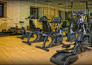 Fitness room at Villa de Olmedo Spa and Wellness Hotel, where spa holidays are offered through Spa In Spain