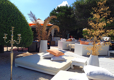 Chill out area at Beach Front Yoga Retreat, Sardinia offered by Spa In Spain