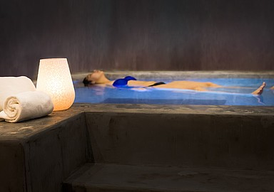 Feel weight less in the floatation pool of Longevity Cegonha Country Club offered by SIS Spa In Spain