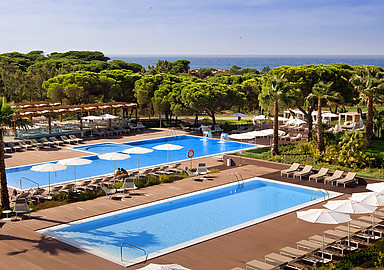 Relaxing pools and gardens at Wellness Hotel EPIC Sana in the Algarve, Portugal