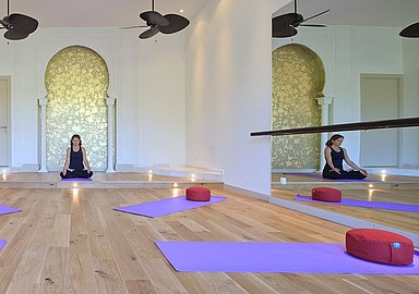 Yoga room at Shanti Som Wellbeing Retreat Spain