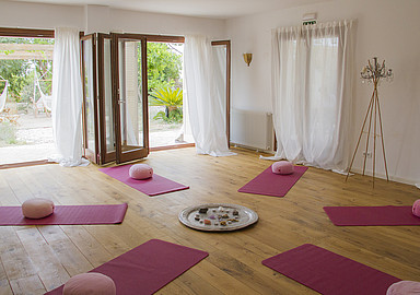 Inspiring Yoga holiday at charming Pink Pepper Tree Hotel, offered by Spa In Spain