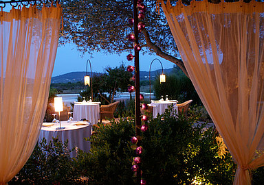 Enjoy a romatic dinner at Es Cucons Hotel in Ibiza