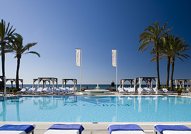 La Cabane beach club at Los Monteros Spa & Wellness Hotel in Spain
