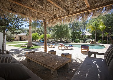 Relax at the pool at Yoga Rosa Retreats, Ibiza