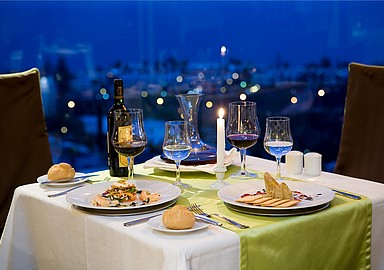 Romantic dinner at the Thalasso Hotel Gloria Palace San Agustín, Tenerife, Spain