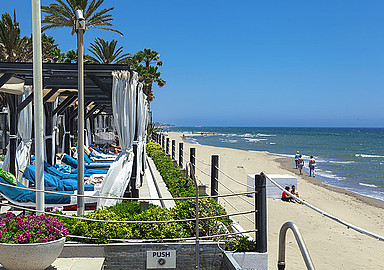 La Cabane beach club at Spa & Wellness Hotel Los Monteros in Marbella