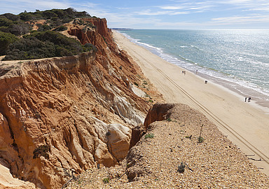 Beautiful beach at Wellness Hotel EPIC Sana in the Algarve, Portugal