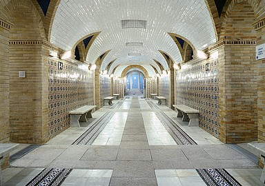Thermal gallery Spa at Balneario de Archena in Spain