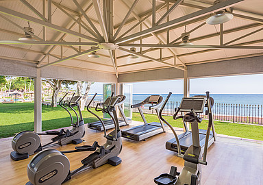 State of the art Fitness centre at Healthouse Las Dunas in Málaga, Spain
