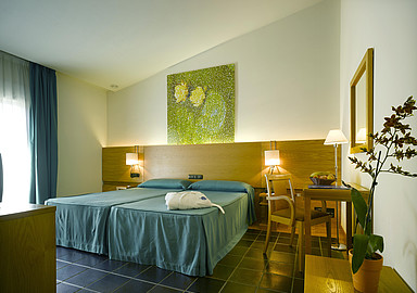 Hotel room at Wellness hotel Hotel Levante of Balneario de Archena in Spain