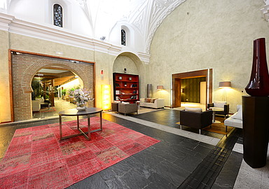 Interior of the central building of the Villa de Olmedo Spa and Wellness Hotel that offers spa holidays through Spa In Spain