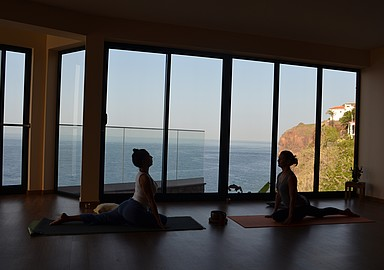 Inspiring yoga holidays at Alpino Atlantico Hotel in Madeira, offered by SIS Spa In Spain