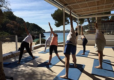 Relaxing group yoga retreat in Mallorca offered by Spa In Spain.