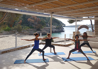 Yoga retreat beach front in Sardinia offered by Spa in Spain