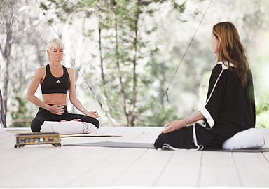 Meditation and pranayamas at Ibiza Yoga Rosa Retreats, offered by Spa In Spain