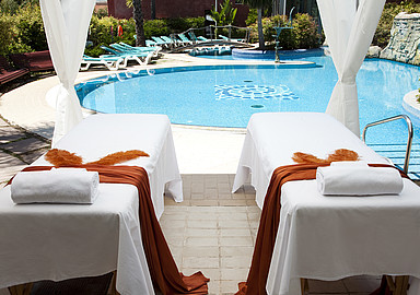 Hotel Blancafort Spa Termal in Spain offers relaxing massages