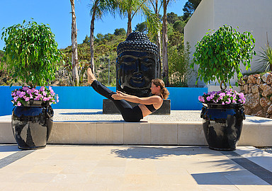 Pilates retreat at wellness hotel Shanti Som in Spain, offered by SIS Spa In Spain